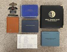 More details for vintage private & commercial pilots log books british airways bea badges etc