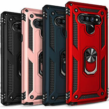 For Lg K51 / Q51 Shockproof Slim Armor Kickstand Hard Cover w/ Screen Protector