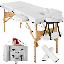 Massagetisch Massagebank Massageliege + 2 Lagerungsrollen + Tasche weiß  B-Ware