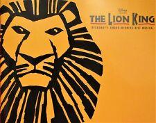 LION KING SOUVENIR PROGRAM - MANDALAY BAY, LAS VEGAS, NEVADA. 18 - 2 Sided Pages