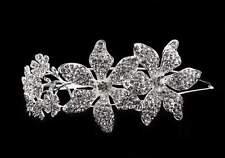 Large Vintage Style Bridal Brooch Side Headband  Tiara, Crystal Diamante Wedding