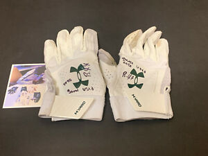 Robert Puason Oakland A's Signed 2020 Game Used Batting Gloves White _
