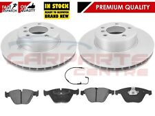 FOR BMW 5 SERIES E60 530D 530 D FRONT 324mm VENTED BRAKE DISCS PADS PAD SET WIRE