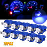 10x T5 B8.5D 5050 1SMD LED Dashboard Dash Gauge Instrument Light Bulb Blue