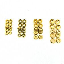 Solid Brass Socket Screw Cups Decorative Washer Cabinet Furniture No 8 or 10