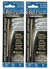 "Fisher Space Pen #SU1F Universal Refills / TWO  BLUE ""SU"" Series Refills"