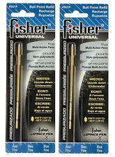 "Fisher Space Pen #SU1F Universal Refills / TWO  BLUE ""SU"" Series Refills"