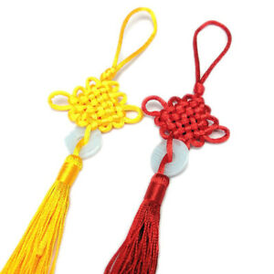 Hand-Woven Chinese Knot Car Interior  Hanging Pendant Home Decor Tool