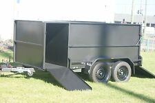 8x5 LAWN MOWING TANDEM TRAILER HEAVY DUTY WITH JOCKEY WHEEL, RAMPS, BRAKES