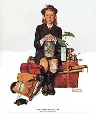 Norman Rockwell Camping Print Returning From Camp