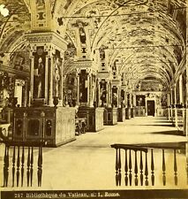 Stereoview Photo Vatican Library Bibliotheque Rome Italy