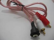 AUX lin IN Port mp3 a pannello incasso Jack stereo 3,5mm a 2 RCA maschi cm. 50