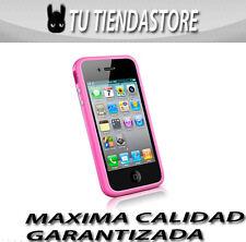BUMPER compatible iphone 4 rosa BOTONES METALICOS carcasa funda