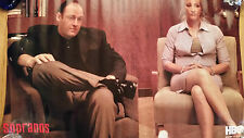 TONY SOPRANO & WIFE CARMELA HBO 22X34 POSTER THERAPY SESSION DR MELFI