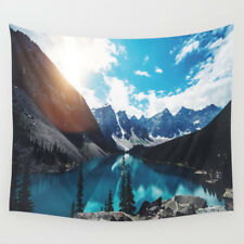 Mountain and Lake Tapestry Wall Hanging Forest Tapestries for Home Wall Decor