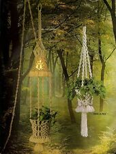 Plant Lamp & Hide-a-Pot Hanging Decor #AW1 Macrame Award Winning Designs
