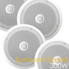 4x (2 Paire) 300 W Plafond Blanc Son Surround Haut-Parleur Bass/Treble e-audio hifi