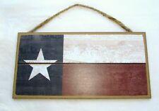 "Texas ""FLAG""  Wooden Sign   5"" x 10"""