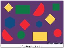 KIDS SHAPE LEARNING NON SLIP PLAY MAT RUG - 150x100cm Special Now