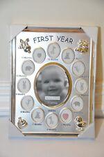 Malden International Designs First Year Silver Metal Picture Frame