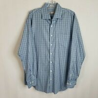 Peter Millar Mens Plaid Button Front Long Sleeve Casual Shirt Size Large E310
