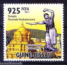 Guine Bis. MNH, Tirupati Temple, INDIA, Balasarawati, Bharatanatyam, Dancer
