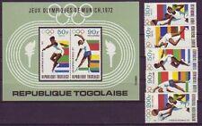 Echte Briefmarken aus Afrika mit Olympische Spiele-Motiv