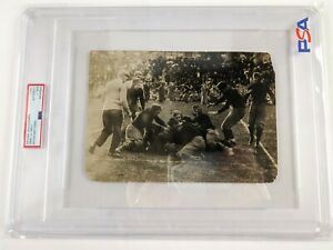 c.1906 Original PSA Type 1 Authentic Army vs Navy Football Game Nose-guard Photo