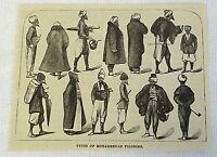 1882 magazine engraving ~ TYPES OF MOHAMMEDAN PILGRIMS