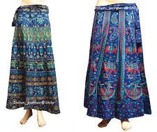 100% Cotton Floral Rapron Print Wrap Around Beautiful Skirt Women Long Ethnic