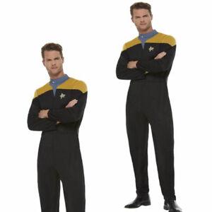 Star Trek Voyager Operations Uniform Gold & Black Licensed Adults Fancy Dress Ne