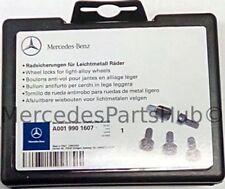 Genuine  Rim Locks - M14 X 1.5 X 27 - Black 001-990-16-07