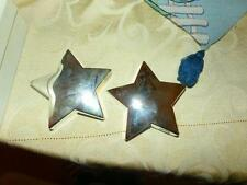 Godinger Silverplate star paper weights 3 w/org. stickers store buy out!!!