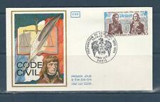 enveloppe 1er jour  Napoléon préparation du code civil   75 Paris  1973