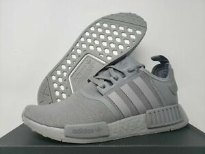 Adidas NMD_R1 Mens FV9016 Triple Grey Knit Boost Running Shoes Size 10