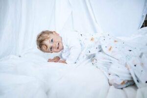 SLEEPING BAG - ANIMAL SAFARI 100% COTTON JERSEY 6-18M 0.5TOG