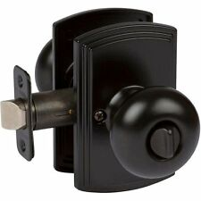 Santo Design Italian Collection Black Privacy Door Lever Knob