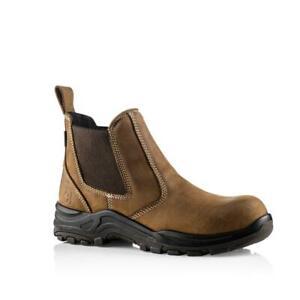 Buckler Nubuckz DEALERZ S3 Brown Lightweight Waterproof Safety Dealer Boot