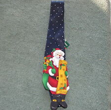 Christmas Holiday Tie Die Cut Santa Checking His List New