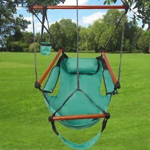 Hammock Hanging Chair Air Deluxe Sky Outdoor Chair Solid Wood 250lb Patio Garden