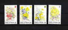 Ile de MAN  timbre   fleurs sauvages    num:  344/347  **