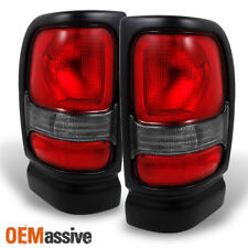 Fit 1994-2002 Dodge Ram 1500 2500 3500 Truck Red Clear Tail Lights Replacement