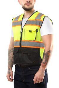 Kolossus High Visibility Safety Vest Multi Pockets Yellow/Black Class 2 KV02