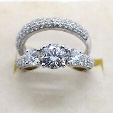 3.00Ct Brilliant Diamond Engagement Ring Wedding Band 14k Solid White Gold