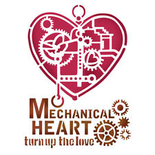 NEW Stamperia A5 Stencil Mechanical Heart