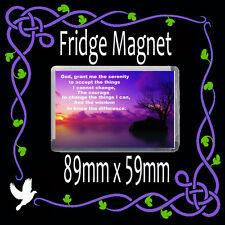 Christian Gift Fridge Magnet- Gift Theme- Serenity Prayer-Tree Image 89x59mm