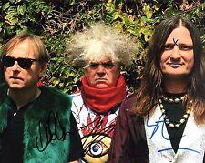 GFA Buzz Osborne x3 Band * THE MELVINS * Signed 8x10 Photo PROOF M2 COA