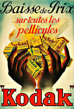 Anuncio de arte cartel impresión de película Kodak francés