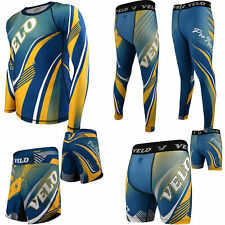 Velo Mma Shorts Rash Guard Compression Training Leggings Mma Fitness Exercise