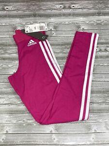 Adidas ESS 3S CZ5763 Pink White Women Tights Classics Pants Size 2XSL New READ